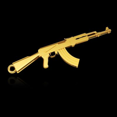 Pingente em Ouro 18k Ak-47 - Masate Exclusive